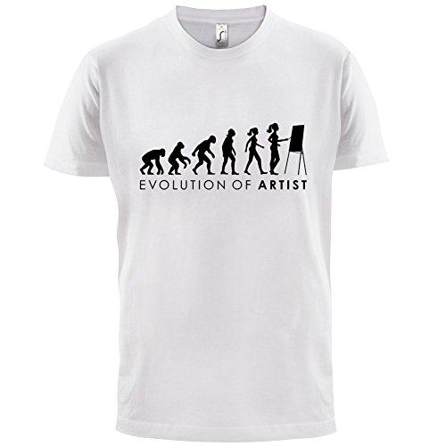 Evolution of Woman - Künstlerin - Herren T-Shirt - 13 Farben Weiß