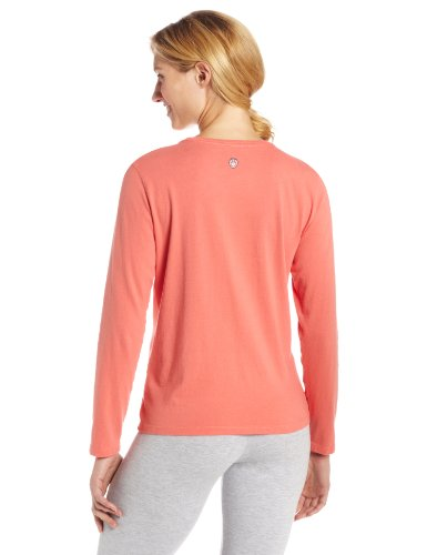 Life is Good Damen Crusher Smile Los Long Sleeve Tee Sunset Coral