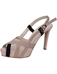 Scarpe donna GUIDO SGARIGLIA sandali beige camoscio tessuto ap796 zooode bianco Camoscio