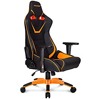 AK Racing CP – Silla para Gaming, color negro y naranja