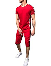 8872f368baa4 Rosennie Mens Tracksuit,Men Spring Summer Fashion Casual Hooded Long Sleeve  Outwear Sport Loose Pocket Slim Zipper Sweatshirt Top Pants Sets…