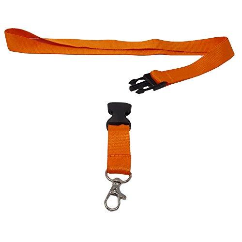 SBS Schlüsselband 25mm 10 Stück orange Schlüsselanhänger -