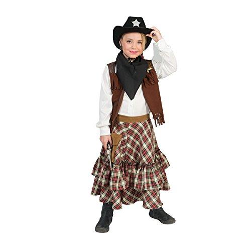 Kostümplanet Cowgirl-Kostüm Mädchen braun Kinder Karneval 140