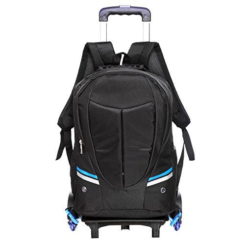 Preisvergleich Produktbild Homdox Trolley Rucksack Schultrolley Schulranzen mit Rollen Schultrolley erwachsene Rucksack Backpack Rollentasche für Jungen Mädchen Damen Herren