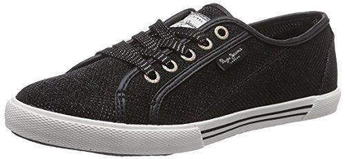 Pepe Jeans London ABERLADY LUREX Damen Sneakers Schwarz (999BLACK)