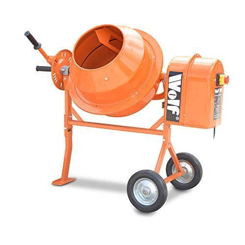 wolf-50l-capacity-concrete-power-mixer-375w-cement-sand-mixing-960rpm-machine-on-stand-with-wheels