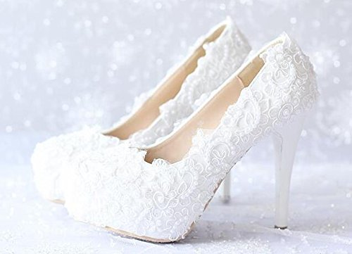 Si& Spitzen Sie Pearl super hohe Ferse/Plattform/Hochzeit/Hochzeitssuite Kittel/Bühne / / Damenschuhe 10cm