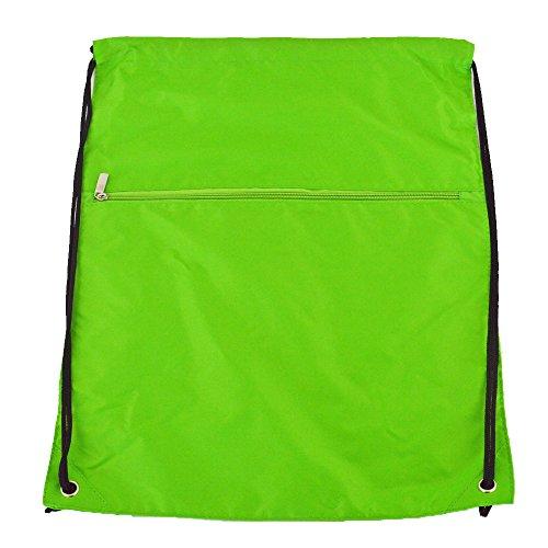 Euro Gymnastikbeutel, Rucksack, mit Reißverschluss, Super Premium, 9 Farben, grün