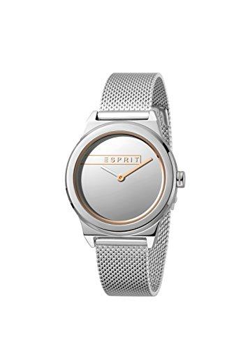 Esprit Damen Analog Quarz Uhr mit Edelstahl Armband ES1L019M0075