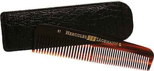 Hercules Sägemann Sägemann Cellon 61 LE Taschenkamm 12,5/5 Zoll Stabiler, widerstandsfähiger & schonender Cellonkamm