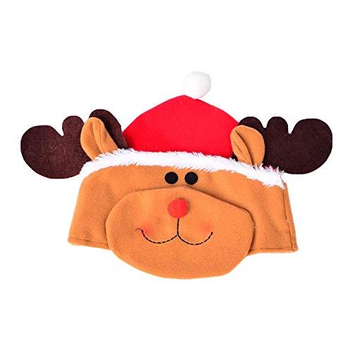 SuperSU Weihnachten ➱➲ 3 Stücke Weihnachtsmütze Nikolausmütze Weihnachtsdeko Xmas Party Deko für Kinder Erwachsene Weihnachtsmann Kostüm (Schneemann Weihnachtsmann Elch) (Für Erwachsenen Vintage Baseball Kostüm)