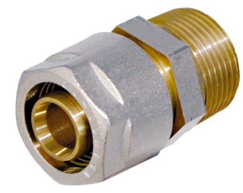 WIROFLEX , Klemmring-Verschraubung inklusive Adapter , Komplettlösung , Schraubsystem , 16 mm x 1/2 AG , Für Mehrschichtverbundrohr
