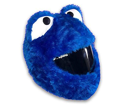 Copricasco in cocco per casco mostro di biscotti, custodia per casco in peluch