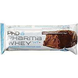 PHD Pharma Whey HT+ Bar - Double Chocolate (12 Riegel), 1er Pack (1 x 900 g)