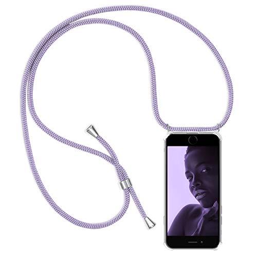 Zhinkarts Handykette kompatibel mit Apple iPhone 6 / 6S - Smartphone Necklace Hülle mit Band - Schnur mit Case zum umhängen in Lila