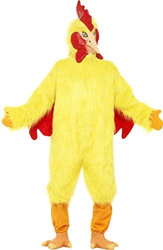 Smiffys, Herren Huhn Kostüm, Fellkörper, Maske und Füße, Größe: One Size, 25503 (Huhn Kostüme Kinder)