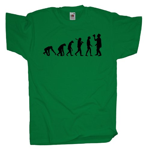 Ma2ca - Evolution - Fasching Bier Saufen T-Shirt Kelly