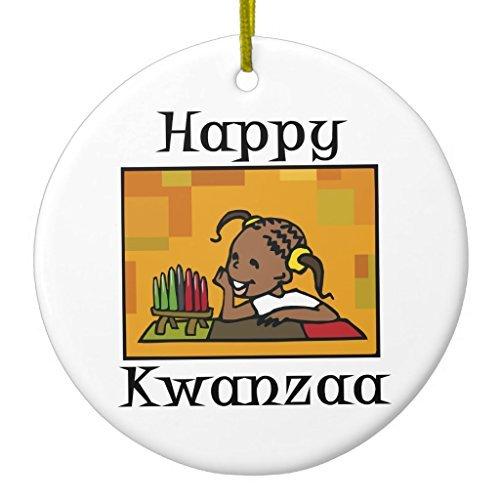 Christmas Gifts Happy Kwanzaa Mädchen Kinara Keramik Ornament Kreis rund Xmas Decor Ornament Yard Dekorationen