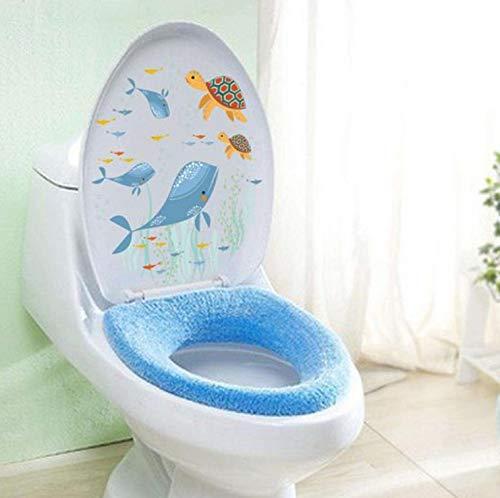 ser Fisch Delfin Hexe Katze Wand Aufkleber Aufkleber Art Badezimmer Waschen Wc Badezimmer Dekoration Halloween ()