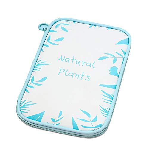 XWWS Großraum-Federmäppchen, PU-wasserdichte, Haltbare Aufbewahrungsbox, Multifunktionale Kosmetiktasche, Passport-Aufbewahrungstasche,Green