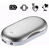 Calentador de Mano USB Recargable , kusisi 4 en 1 multifuncional calentador de manos y banco de energía y masajeador y luz LED – 5200 mAh portátil Batería externa, 2017 nueva versión