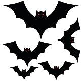 Grande Halloween murciélagos, Set de 5pegatinas de suelo de vinilo se envía en 500mm x 500mm hoja