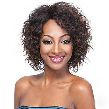 Oofay jf ® multicolore breve parrucche sintetiche parrucca riccia per africano americano donne nere parrucche ricce , brown