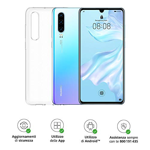 Huawei P30 (Breathing Crystal) Smartphone+Cover Trasparente, 6GB RAM, Memoria 128 GB, Display 6.1