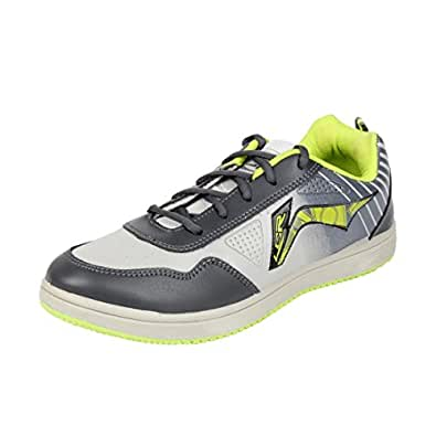 Lancer Men's Grey Synthetic Running Shoes (TS-2 LGR-DGR-PGR-41) - (7 UK)