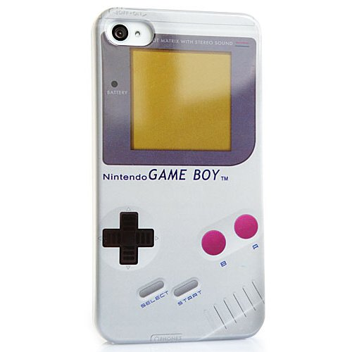 CASEiLIKE ® - Retro Vintage Nintendo GameBoy Style - Snap-on custodia rigida back cover per iPhone 4 / 4S / 4G / 4GS - con SCREEN PROTECTOR (anteriore e posteriore)