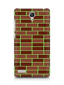 Amez designer printed 3d premium high quality back case cover for Xiaomi Redmi Note 4G (Brick Wall)