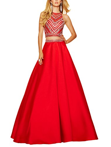 Bridal_Mall - Robe - Trapèze - Femme Rouge - Rouge