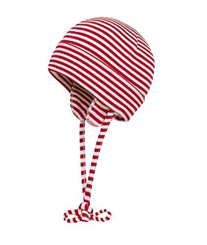 Döll Unisex Baby - Baby, Mütze, Trikot-Bindemütze, Rot (chinese Red 2000), 41 (Herstellergröße: - Mütze Baby Rote