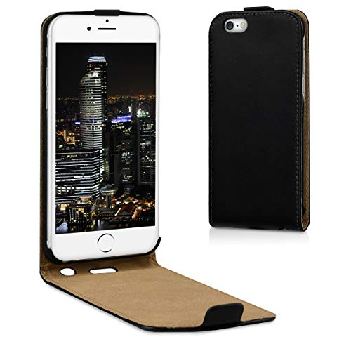 kwmobile Hülle für Apple iPhone 6 / 6S - Flip Case Handy Schutzhülle Kunstleder - Flipcover Cover Schwarz