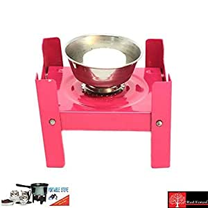 Red Forest Mini Portable Stove With Two Flemo Cubes