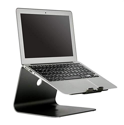 BG&MF Notebookhalterung Laptopständer Kühlkörper aus Aluminiumlegierung Notebookständer Ergonomisches Design für MacBook/MacBook Air/MacBook Pro/Notebooks,schwarz