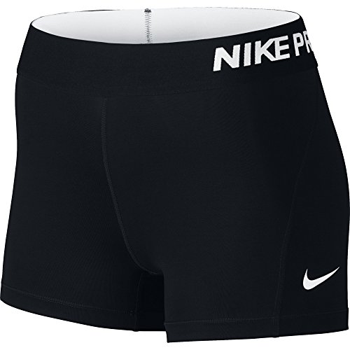 "Nike Pro Cool 3pollici Shorts polsino, Donna, NIKE PRO 3"" COOL SHORT, schwarz/weiß, M"