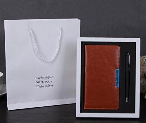 Omeny Nouveau semestre Cahier d'agenda de de de Luxe avec Stylo et boîte pour Cadeau (Brun) B07MQRZF15 b7ede4