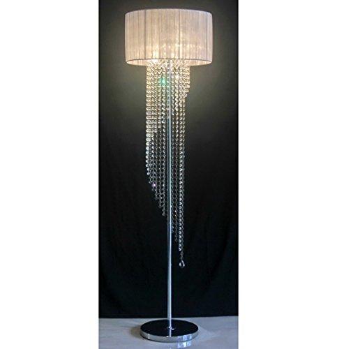 MENA HOME- Kreatives Schlafzimmer Wohnzimmer romantische Studie moderne LED Europäische Bett K9 Kristall Stehleuchten ( Farbe : Weiß ) -