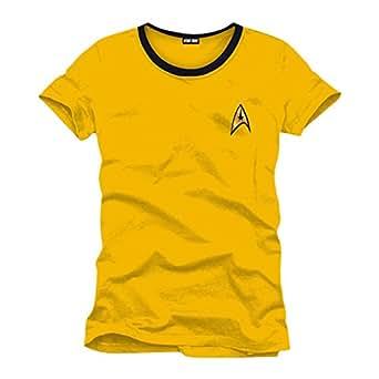 Star Trek - Kirk Uniform Herren T-Shirt - Gelb - Größe Small