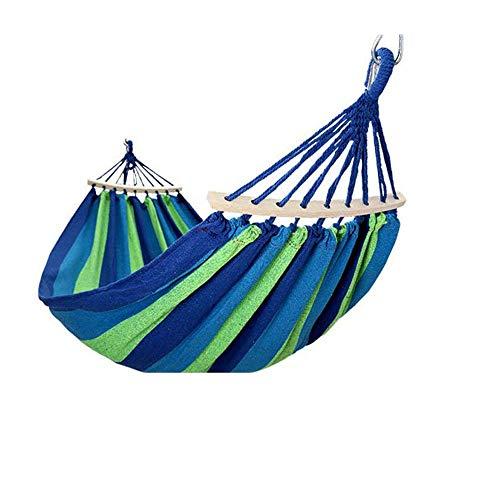 SPTAIR Hamacas Dobles para Acampar con mosquitero Ultra-Ligero Transpirable Lona de Secado rápido Capacidad de Carga 450LBS, para mochileros, Viajes, Playa, jardín (Color : Azul)