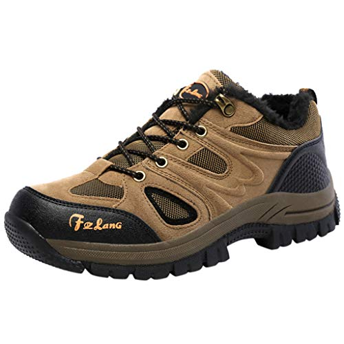 ITCHIC Coppia di Scarpe Scamosciate Keep Warm Sport Scarpe Antiscivolo Sneakers Allacciate da Corsa con Lacci Coppia Scarpe da Corsa Outdoor da Trekking in Pizzo Scamosciato 39-48