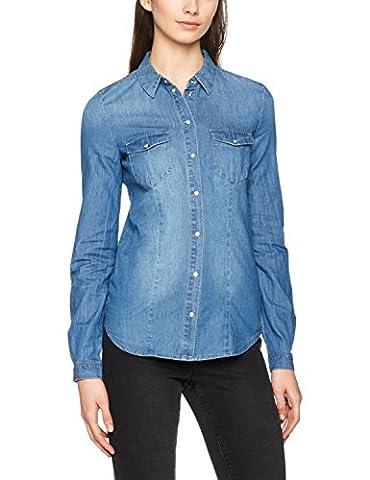 ONLY Damen Hemd Onlrock IT Fit MB Dnm Shirt BJ7887 Noos, Blau (Medium Blue Denim), 34