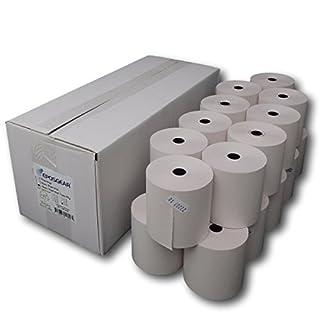 EPOSGEAR® (20 Rolls) 76mm x 76mm 76x76 Two (2) Ply Non-Thermal Paper Till Cash Register Machine Receipt Kitchen Printer Rolls (White/White)