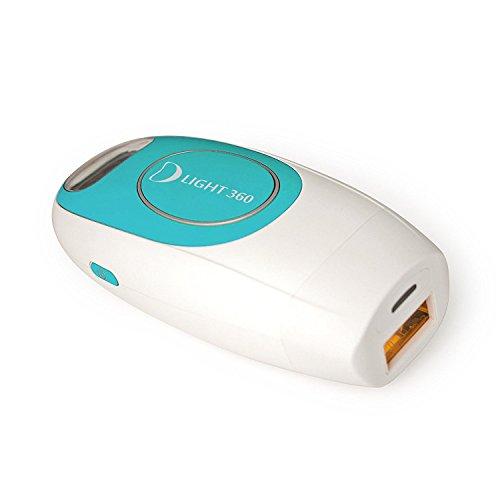 D Light 360 - Haarentfernung, Photorejuvenation und Akne Behandlung mit 300.000 Pulses and IPL KIT inklusive -