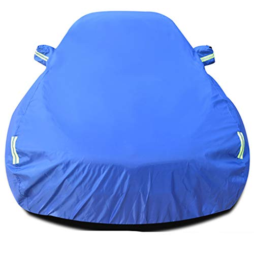 Car hood Snow-proof protective cover, waterproof, for all types of weather, polyester sun protection, UV protection, universal windproof cover for cars on the air