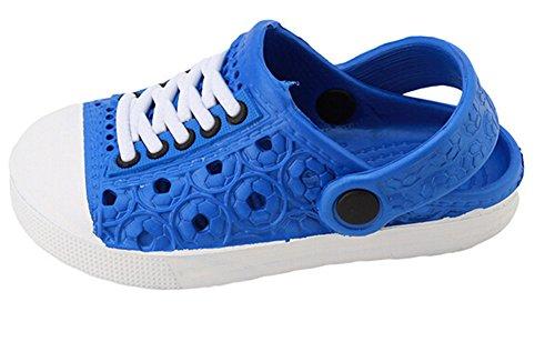 ODN Strand Hausschuhe Baby Jungen Mädchen Sandalen Soft Clogs Atmungsaktive Schuhe Kinder Unisex Hausschuhe 4 Farben (24, Blau)