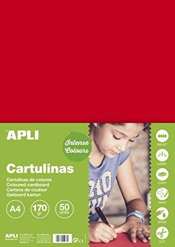 APLI 14239 - Cartulina roja A4 170 g 50 hojas