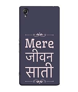 Fuson Designer Back Case Cover for Sony Xperia Z1 :: Sony Xperia Z1 L39h :: Sony Xperia Z1 C6902/L39h :: Sony Xperia Z1 C6903 :: Sony Xperia Z1 C6906 :: Sony Xperia Z1 C6943 (Filmy Movie Hindi Life Partner Soul Mate )