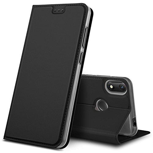 GeeMai Wiko View Max Hülle, Premium Flip Case Tasche Cover Hüllen mit Magnetverschluss [Standfunktion] Schutzhülle Handyhülle für Wiko View Max Smartphone, Schwarz